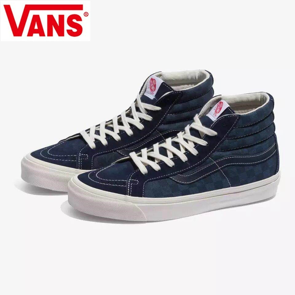 e0e0f7ee520f VANS spring Checkerboard series canvas shoes Classic Men and Womens Sneakers