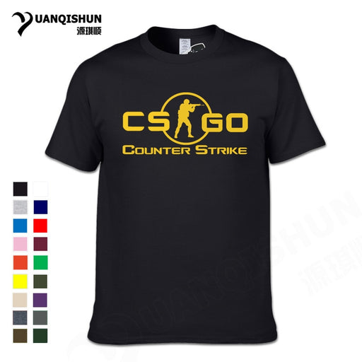 YUANQISHUN 2017 New CS GO Print T Shirt Counter Strike Global Offensive CSGO Hot Games TShirt Team Custom Men Boutique T-shirt