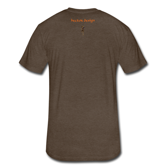 Fitted Cotton/Poly T-Shirt by Next Level - Fly - heather espresso