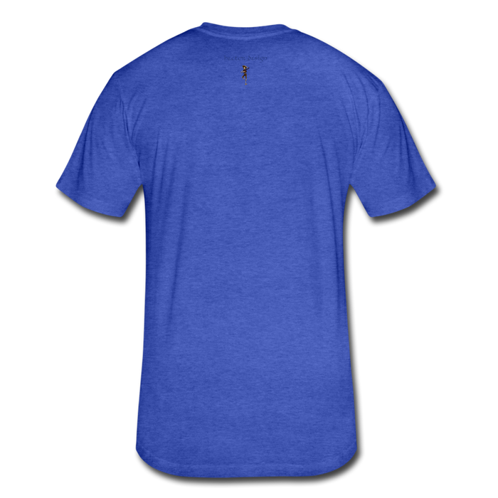 Fitted Cotton/Poly T-Shirt by Next Level - Cow - heather royal
