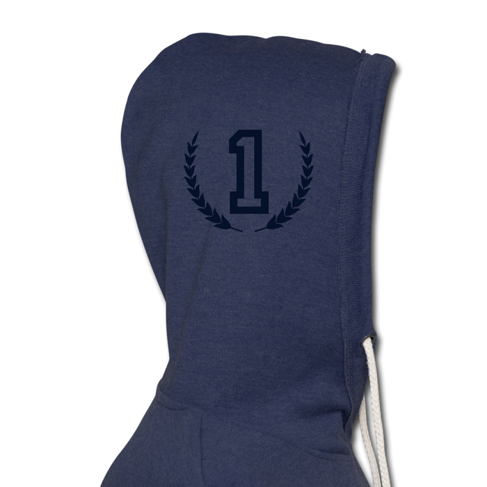 Hector Unisex Lightweight Terry Hoodie - heather navy