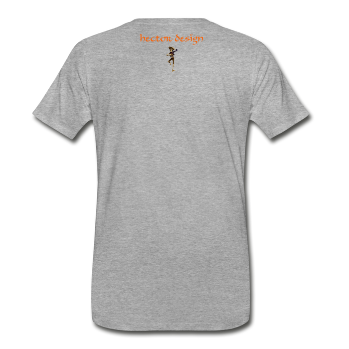 Men's Premium T-Shirt - Butterfly - heather gray