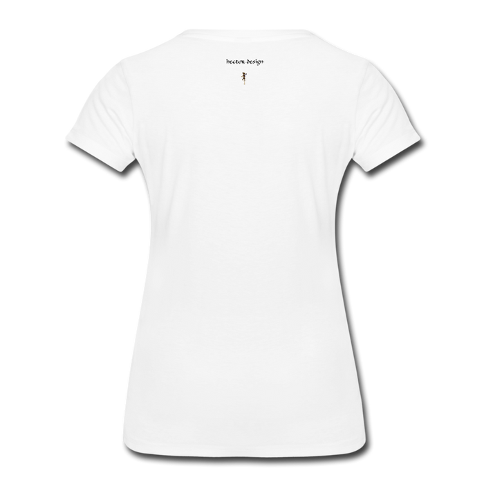 Women's Premium T-Shirt - Never Give Up - white