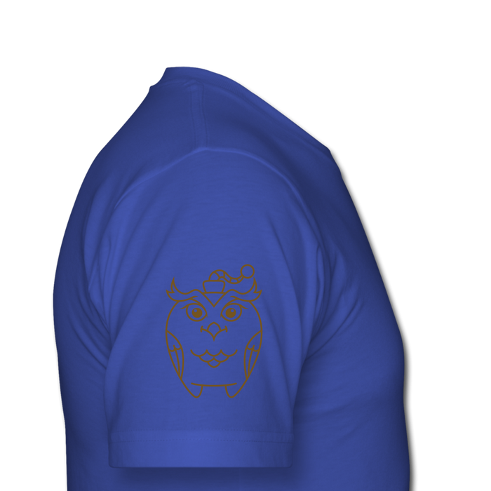 Men's  Jersey T-Shirt - Owl - royal blue