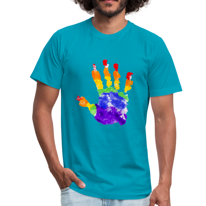 Men's  Jersey T-Shirt - Pride - turquoise