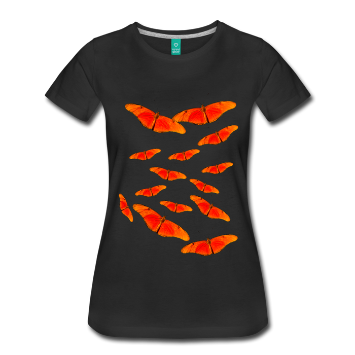 Women's Premium T-Shirt - Butterfly - black