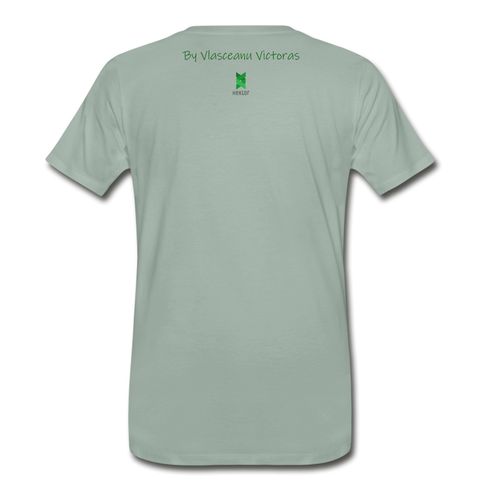 Men's Premium T-Shirt Hector - steel green