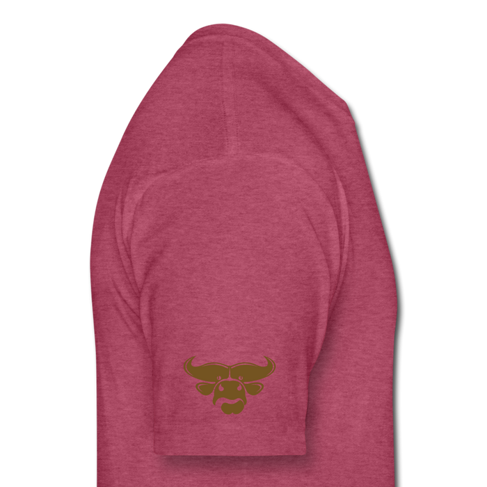 Fitted Cotton/Poly T-Shirt by Next Level - Cow - heather burgundy