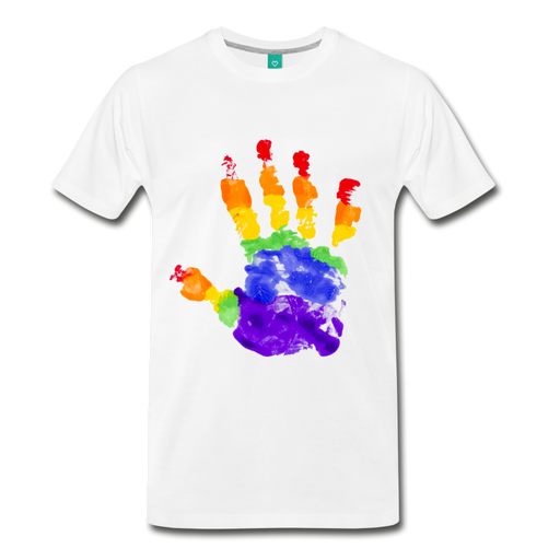 Men's Premium T-Shirt - Pride - white