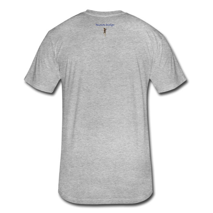 Fitted Cotton/Poly T-Shirt by Next Level - Cow - heather gray