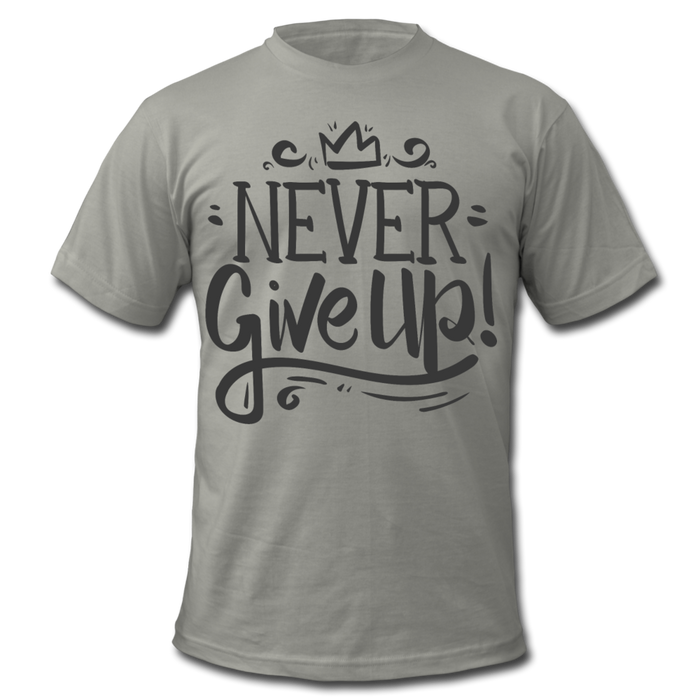 Men's  Jersey T-Shirt - Never Give Up - slate