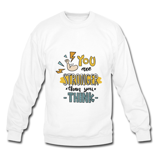 Crewneck Sweatshirt - Stronger - white