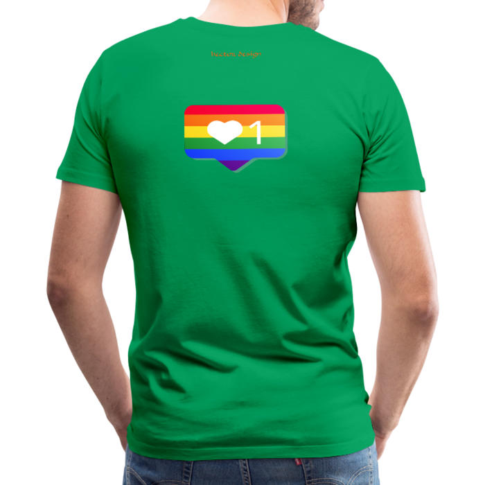 Men's Premium T-Shirt - Pride - kelly green