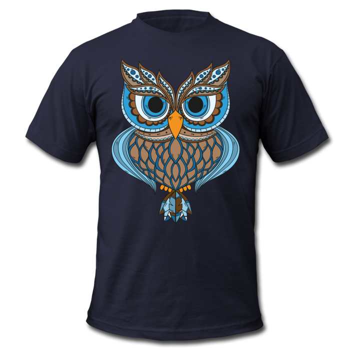 Men's  Jersey T-Shirt - Owl - navy