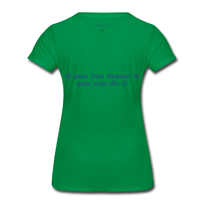 Women's Premium T-Shirt - Owl - kelly green