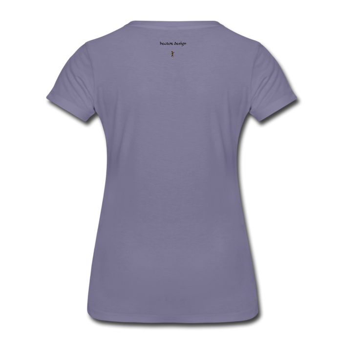 Women's Premium T-Shirt - Never Give Up - washed violet