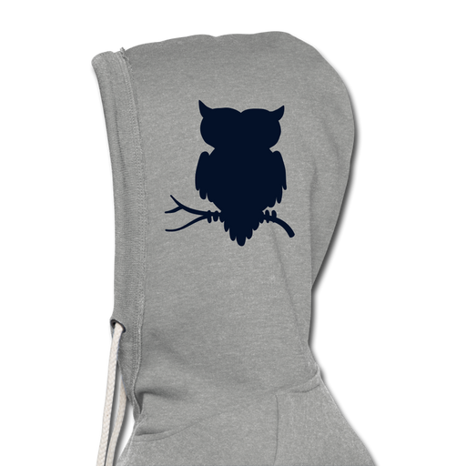 Unisex Lightweight Terry Hoodie - Owl - heather gray