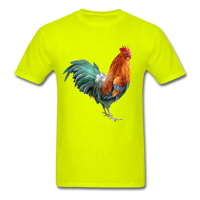 Men's T-Shirt - Rooster - safety green