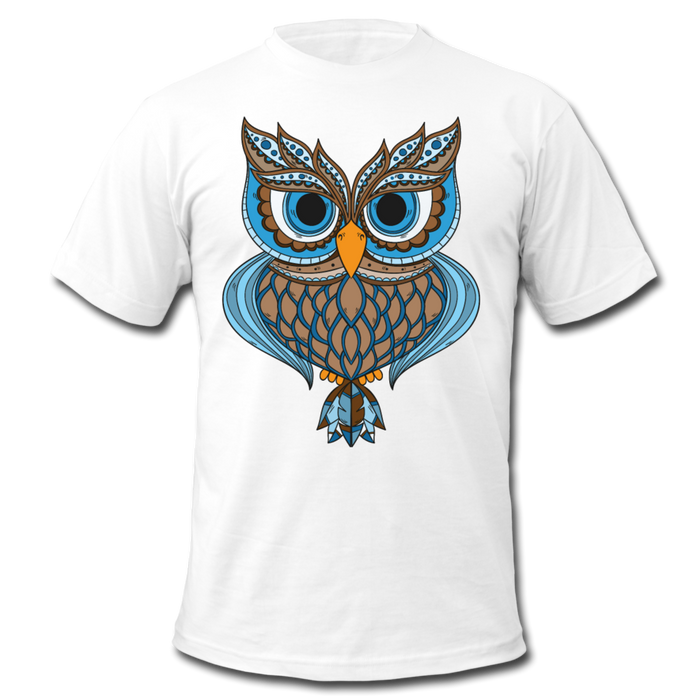 Men's  Jersey T-Shirt - Owl - white