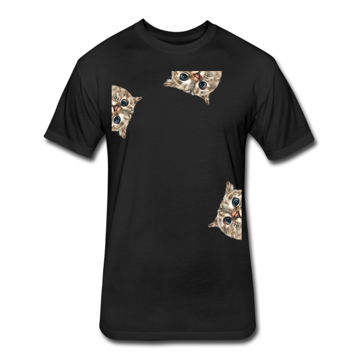 Fitted Cotton/Poly T-Shirt by Next Level - Cat - black