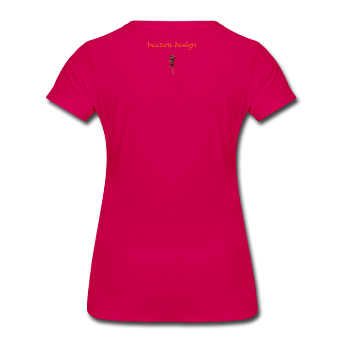 Women's Premium T-Shirt - Butterfly - dark pink
