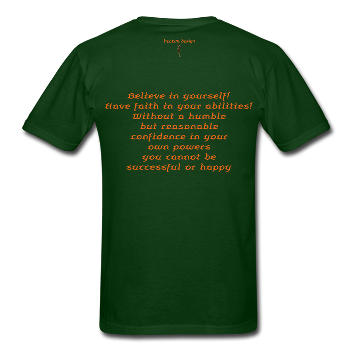 Men's T-Shirt - Rooster - forest green
