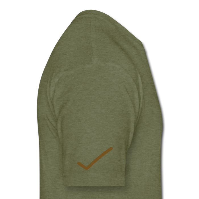 Fitted Cotton/Poly T-Shirt by Next Level - Done - heather military green