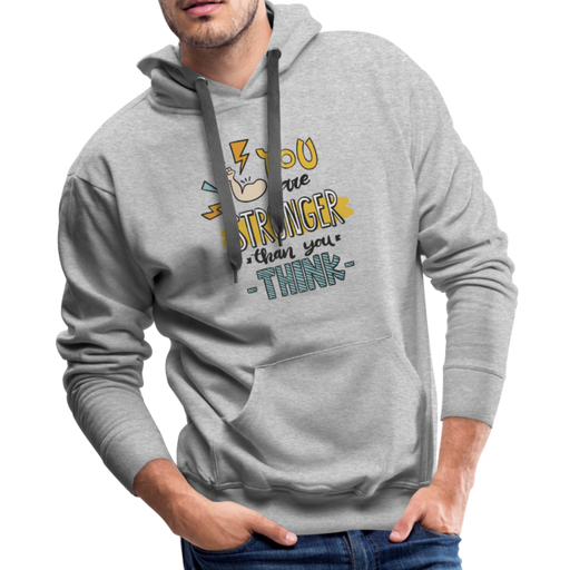 Men's Premium Hoodie - Stronger - heather gray