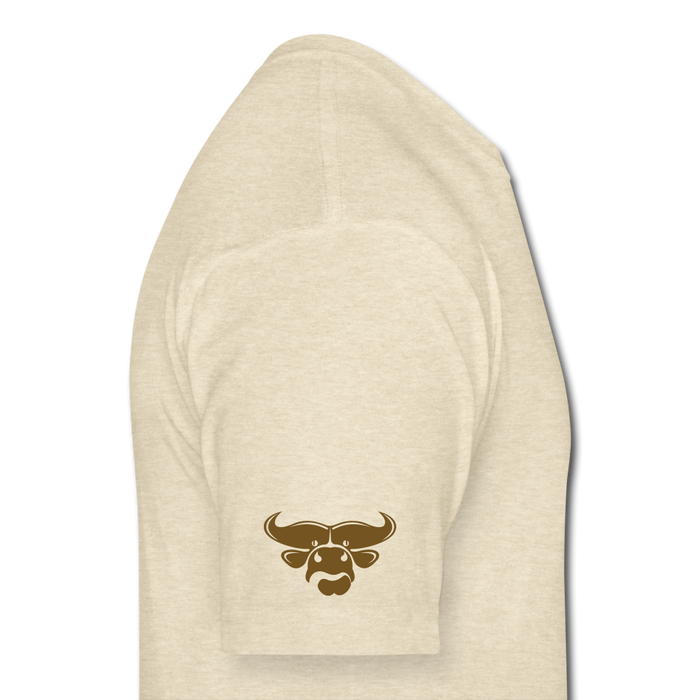 Fitted Cotton/Poly T-Shirt by Next Level - Cow - heather cream
