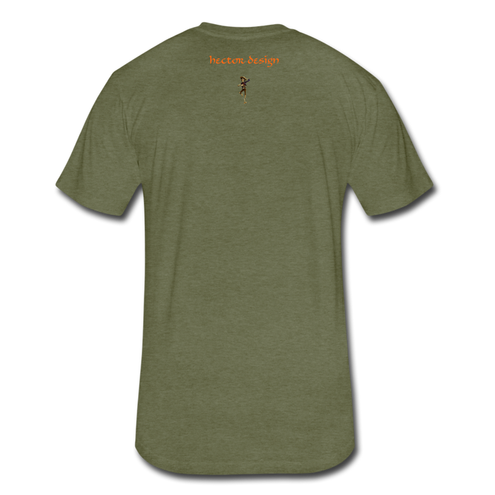 Fitted Cotton/Poly T-Shirt by Next Level - Fly - heather military green