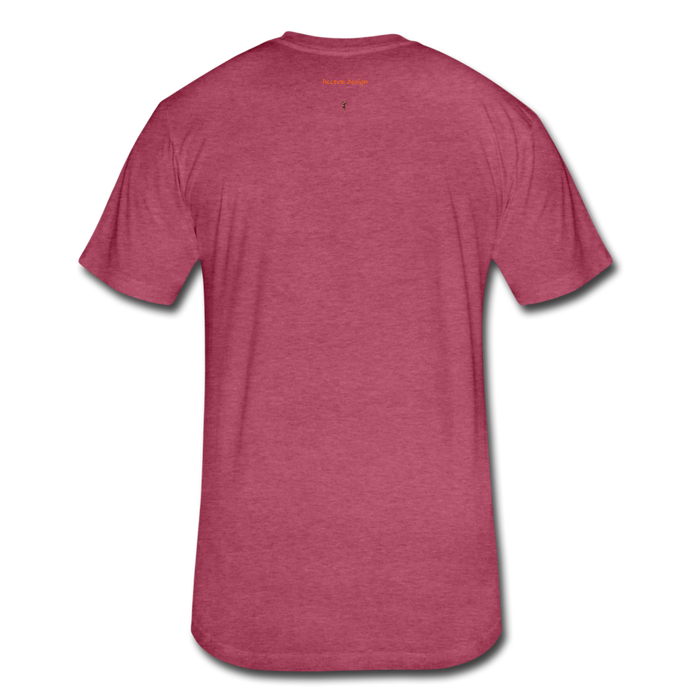 Fitted Cotton/Poly T-Shirt by Next Level - Done - heather burgundy