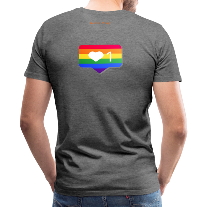 Men's Premium T-Shirt - Pride - charcoal gray