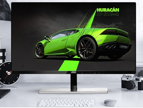 i7 8GB 120GB/1T GX1080 21.5/23.6/27 inch monitor display gaming Desktop computer PC with water cooling system