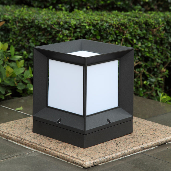 outdoor modern block wall column light for villa/garden/courtyard IP54 waterproof  led outdoor wall pillar lamp cube lawn light