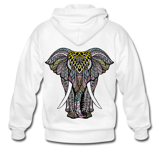 Gildan Heavy Blend Adult Zip Hoodie - Elephant - white