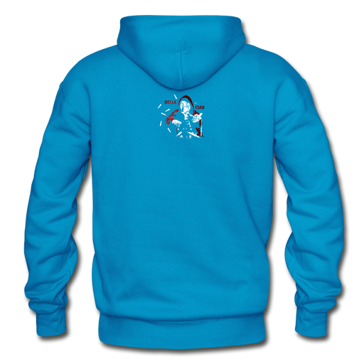 Gildan Heavy Blend Adult Hoodie - Bella Ciao - turquoise