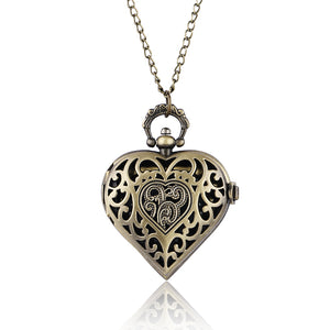 Beautiful Heart Shape Pendant Quartz Pocket Watch Nurse Watches 2017