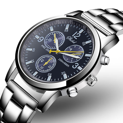 Luxury Men's Business Watch Stylish Steel Strap Sport Watch
