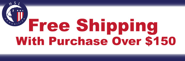 Free shipping with purchase of $150