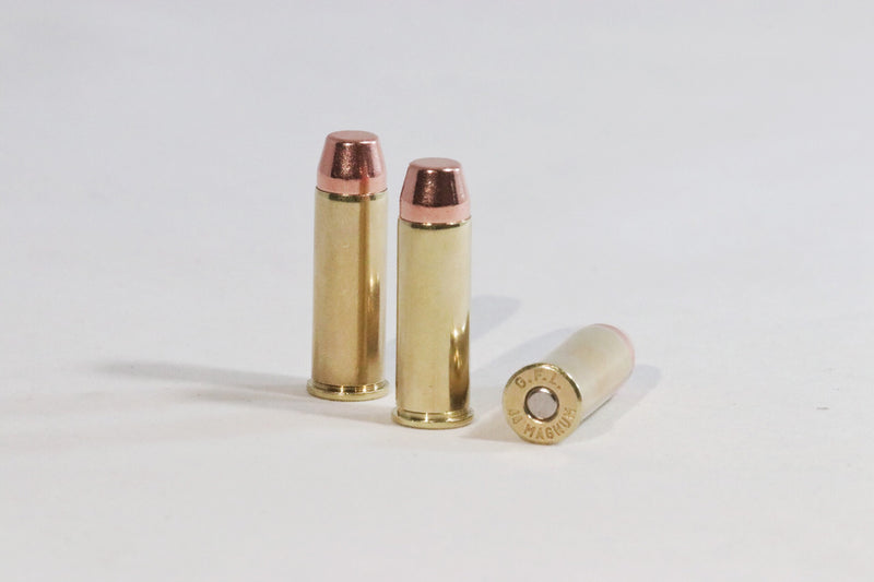 44 Magnum 240 grain flat nose ammunition