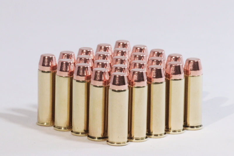 Multiple 44 Magnum 240 grain flat nose ammunition