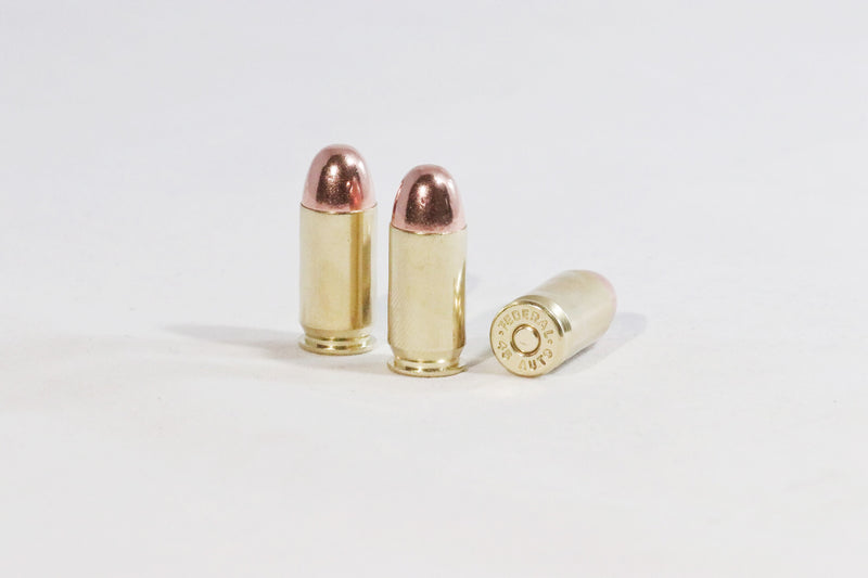 45 ACP 230 grain round nose ammunition