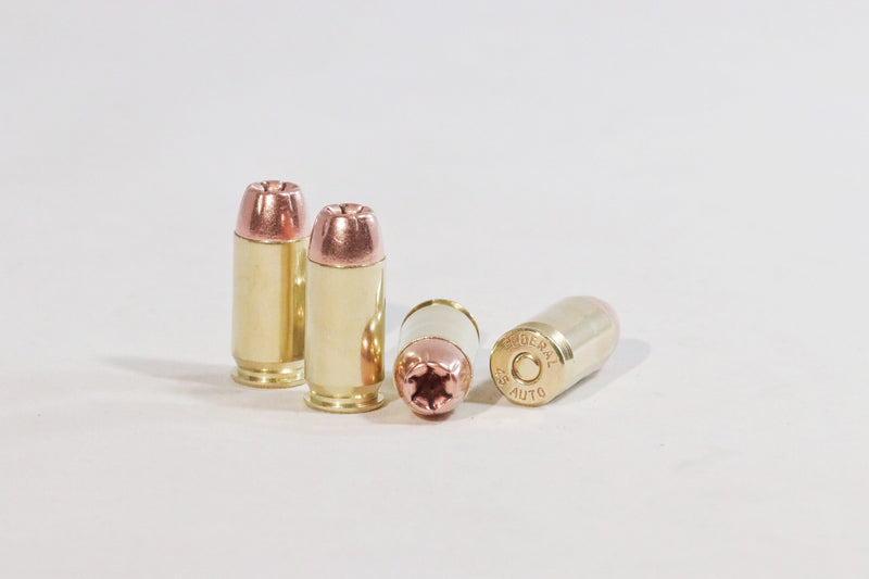 Hollow Point 45 ACP 230 grain round nose ammunition
