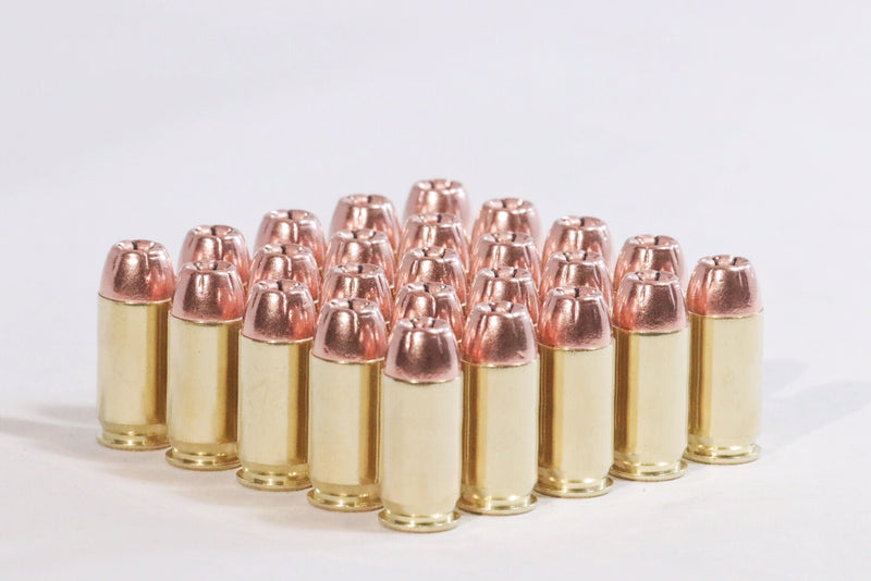 Multiple Hollow Point 45 ACP 230 grain round nose ammunition