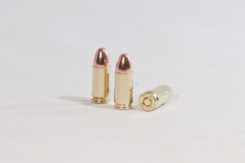 9MM Luger 115 grain round nose ammunition