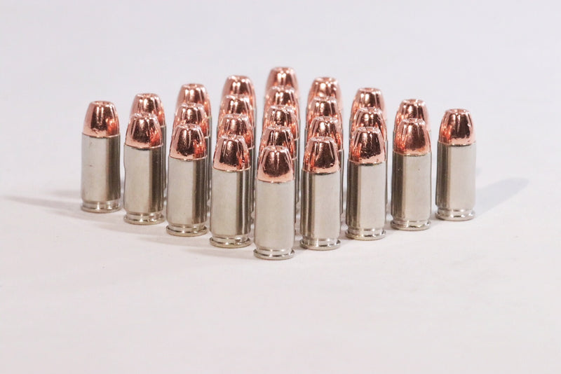 multiple 9MM Luger 124 grain Hollow point ammunition