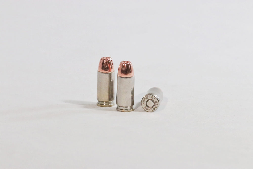 9MM Luger 124 grain Hollow point ammunition