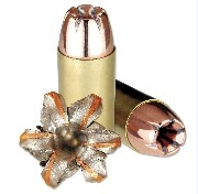 9MM Luger 124 grain hollow point expanded ammunition