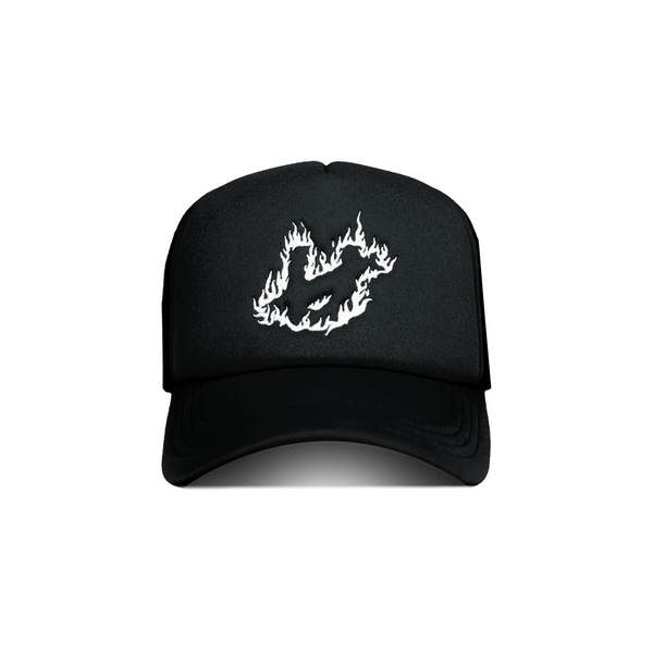 Untamed Black Fire Trucker Hat