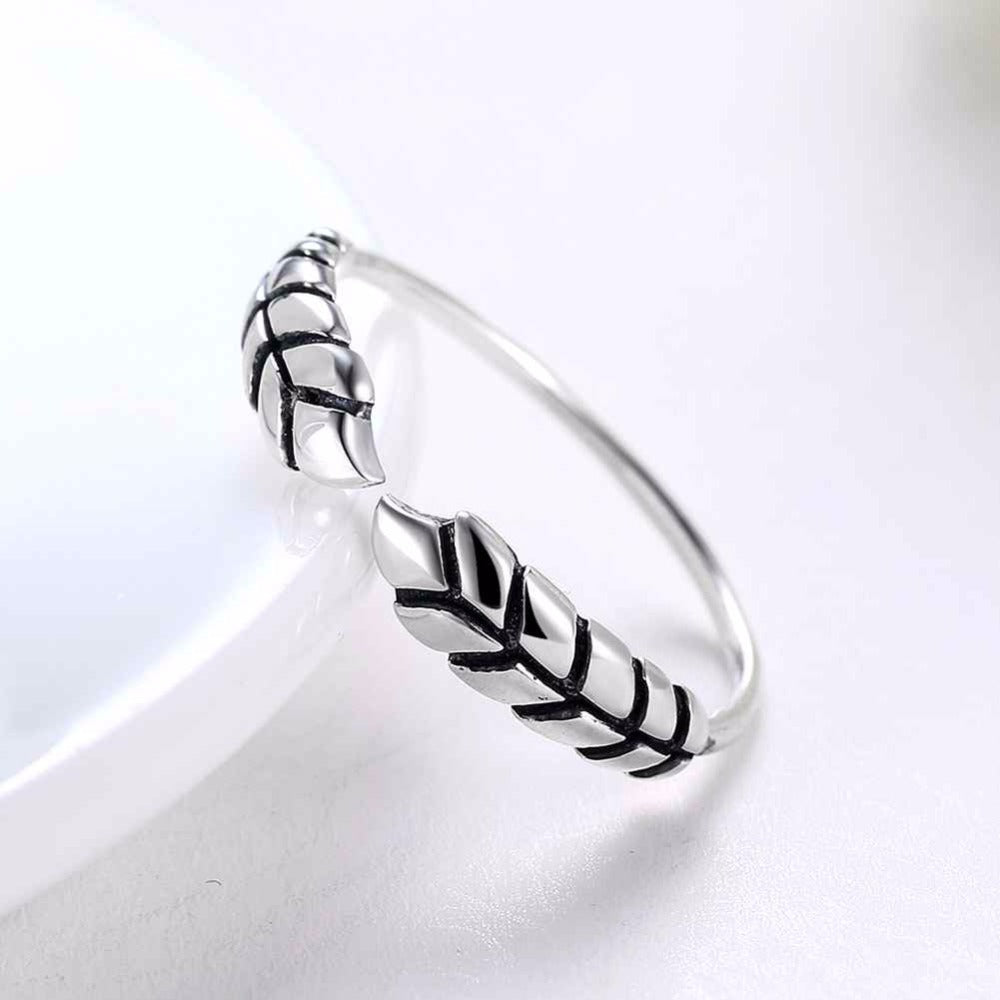 Wrapped Branch Ring (Solid 925 Sterling Silver)